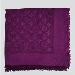 Louis Vuitton Purple Scarf from Dubai